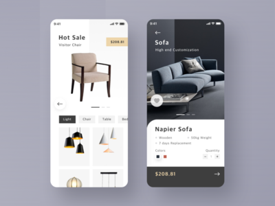 app for furniture app ui