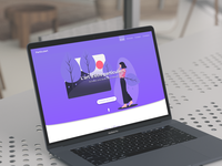 Particulart concept landing page.