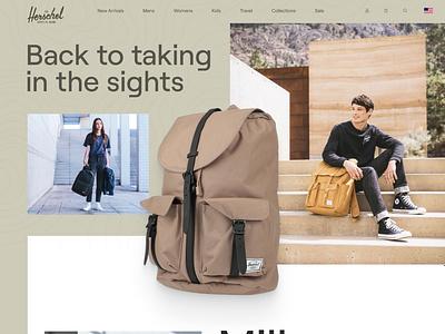 Herschel Supply Co. Redesign product store ecommerce outdoor backpacks