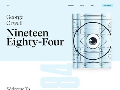 George Orwell Book Series - 1984 ecommerce figma web design web landing page editorial book editorial design data visualization data dataviz clean homepage website