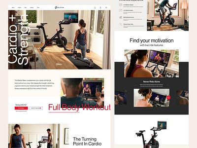 Peloton Bike+ Landing Page indoor peloton smart bike workout fitness figma landing page web design clean website ui