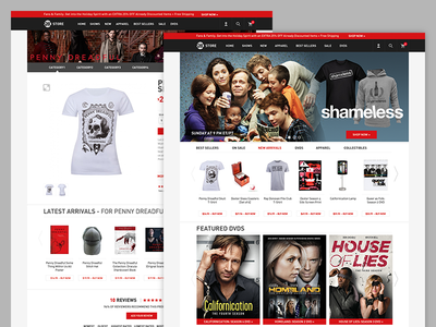 Showtime Store Redesign e-commerce store ecommerce website shop web showtime ui