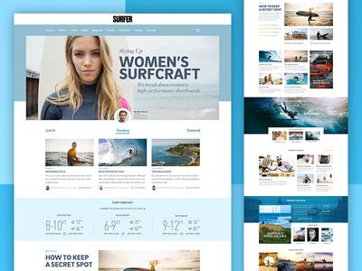 Surfer Magazine Website Redesign