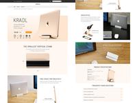 Kradl product landing page