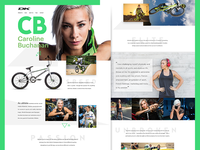 Caroline Buchanan DK Bikes Landing Page