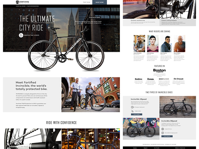 Fortified Bikes Homepage Refresh website minimal clean product homepage landing page grid fix bicycle bike