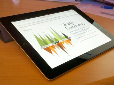 iPad stocks app chart ipad app stocks infographic green orange didot graph stock mobile app