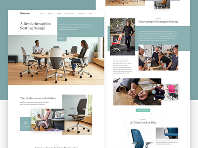 Steelcase Silq Product Page office furniture office chair furniture website clean ecommerce landing page minimal product web design