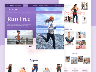 Athleta Homepage Redesign ux design ui design website typogaphy landing page shopping store e-commerce design ecomerce clothing fitness yoga athleta product homepage clean redesign women fashion minimal grid layout