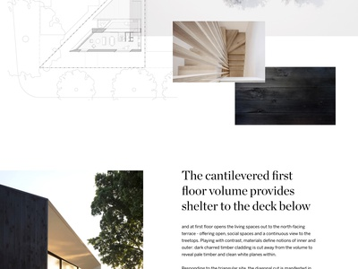 Platform House by studioplusthree web design clean landing page real estate website ui ux house design architechture