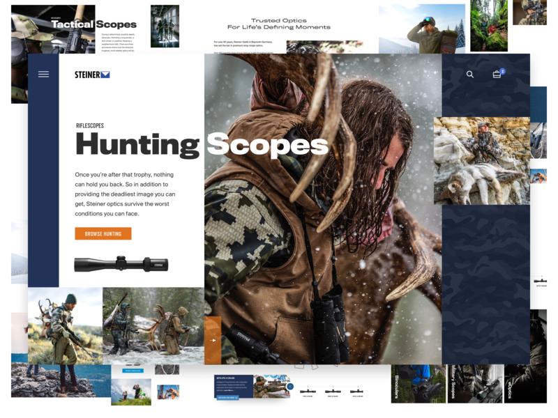 Steiner Optics Homepage modern clean ui web web design steiner product military tactical ecommerce design hunting scope optics optical homepage website