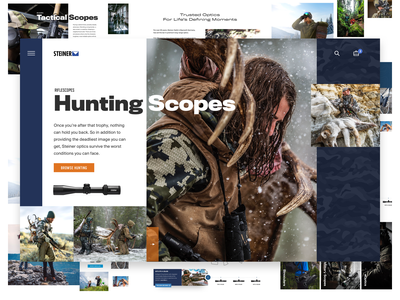 Steiner Optics Homepage modern clean ui web web design steiner product military tactical ecommerce design hunting scope optics optical homepage website