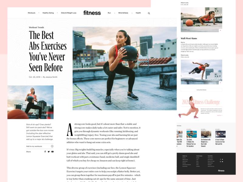 Fitnessmagazine.com Article Page
