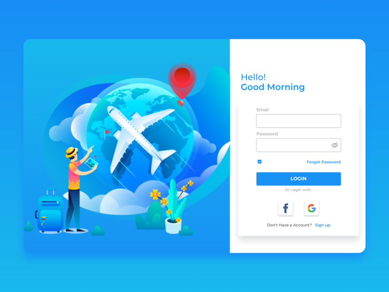 Login Screen by Rio Surbakti on Dribbble
