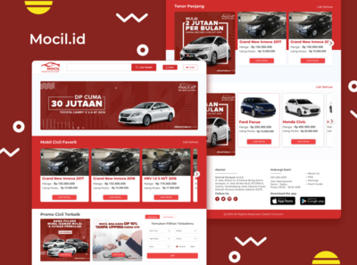Landing Page Mocil.id illustration branding car webdesign clean dribbble uxdesign ux uidesign ui design