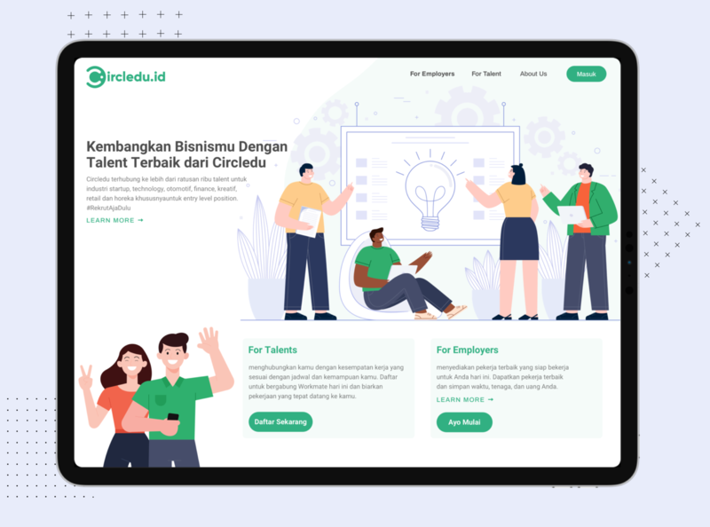 Business Landing Page - Circledu.id business clean app design branding illustration dribbble uxdesign ux design uidesign ui