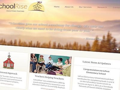 SchoolRise - Web Design  wordpress web design school academics education purple yellow texture sunrise school house teachers
