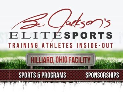 Bo Jackson's Elite Sports Header bo jackson wordpress web design web development sports red black turf ohio