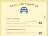 Empire Tire & Battery Service List