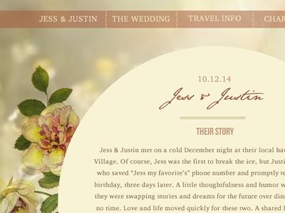 Jess & Justin Wedding  web design wordpress video background floral floral botany pink fields flowers light