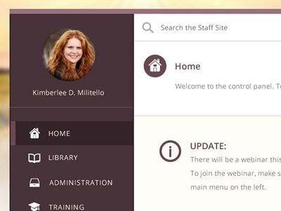 SchoolRise Staff Members Site wordpress members staff purple ui user interface design icons dashboard