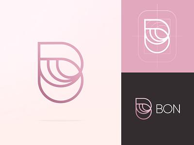 BON b letter b letter typography store shop gift logo design brand illustrator brand identity minimal logotype graphic design branding logo