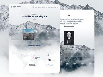 Website redesign concept mountain niagara industry heavy industry ux design redesign concept website instinctools landing page graphic design ui
