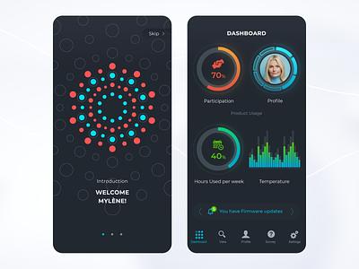 Mobile App Concept logo branding instinctools insti dark mibile app app dashboard splash mobile ux graphic design ui