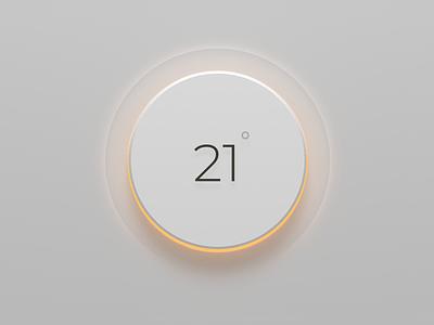 Thermostat lights ui skeumorphism wip