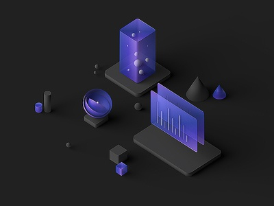 IBM Design Language inspiration octanerender octane c4d abstract art blender3d colors abstract lowpoly isometric b3d design blender 3d