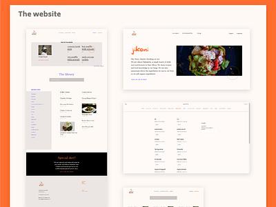 Jikoni Palatables design web ui logo web design blog design orange recipe website