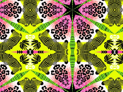 Wild Tropical Kaleidoscope Print