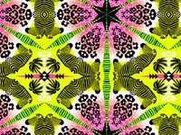 Wild Tropical Kaleidoscope Print