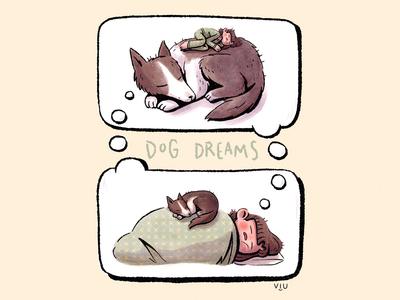 ✨Dog Dreams✨ dog illustration kidlitart children book illustration children book illustration design children art direction children illustration illustration