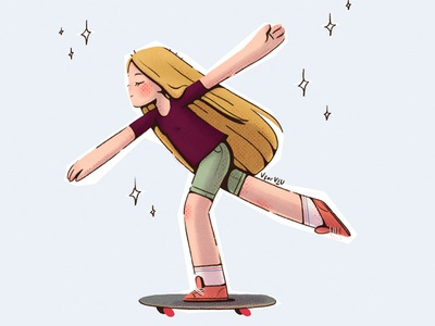 〰️Flow〰️ movement stylish flow comic skateboard characters children illustration character design illustration