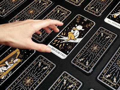 ✨TAROT in treble clef✨ inktober graphic design board game tarot card card deck illustrator art direction character design illustration