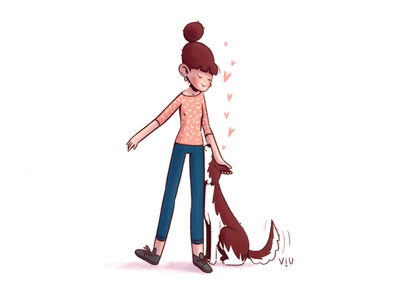 ✨Doggie✨ illustrator drawing cartoons illustration art cartoon dog character design illustration