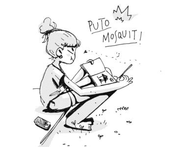 ✨Mosquito Troubles✨ sketch sketchbook doodle ink cartoon design illustration art funny ink drawing drawing illustration