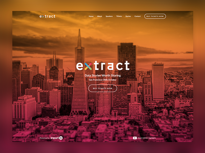 Conference landing page conference page san francisco gradient extract overlay sf data conference web landing ux ui