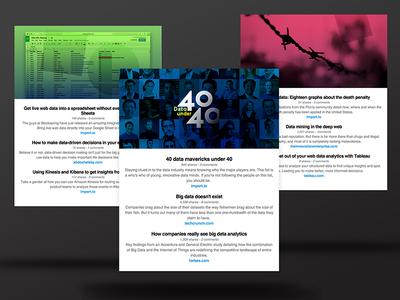 Newsletter modules news marketing gradient pink grid web ux ui modules newsletter email