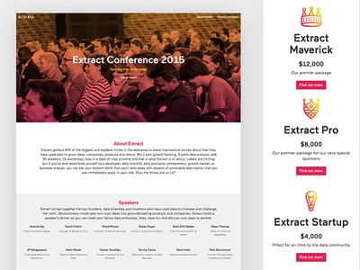 Sponsor us conf landing event partner sponsor packages sponsorship conference design web ux ui
