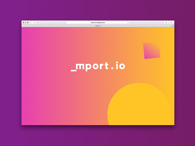The colour and the shape - screensaver 1/3 logo animated logo background changing javascript animation colours branding gradient screensaver