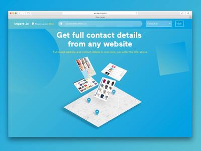 Magic location contact address geolocation location tool landing app design ui web