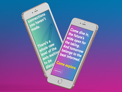Hotline bling brand story text font gradient colours story brand