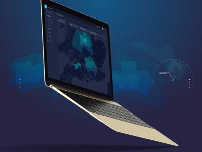 Driftrock Geo Location heat ux ui seach maps uk grid data leads dashboard map
