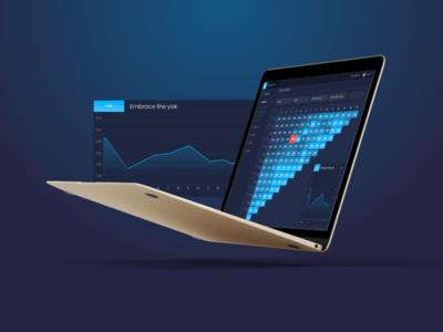 Cohort analysis dark ui data dashboard chart graph analysis cohort ui dashboard data