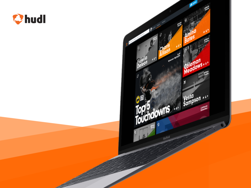 Explore page concept hudl athletes highlights sport discover search explore web ux ui