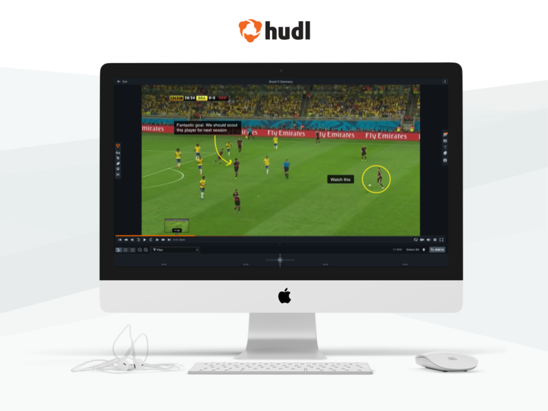 Annotating the game sport app hudl effects football sports design web ux ui