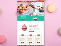 Piece of Cakes - Landing Page Design
