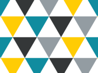Triangle blue and yellow pattern